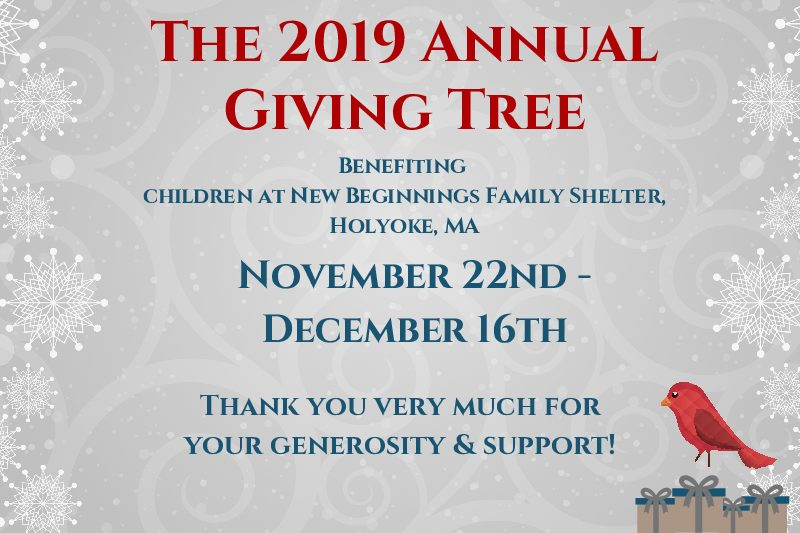 The 2019 Annual Giving Tree