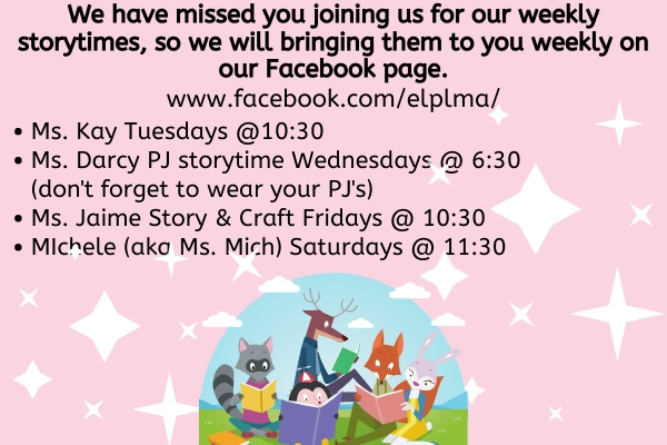 Virtual Storytimes With The Children's Librarians!
