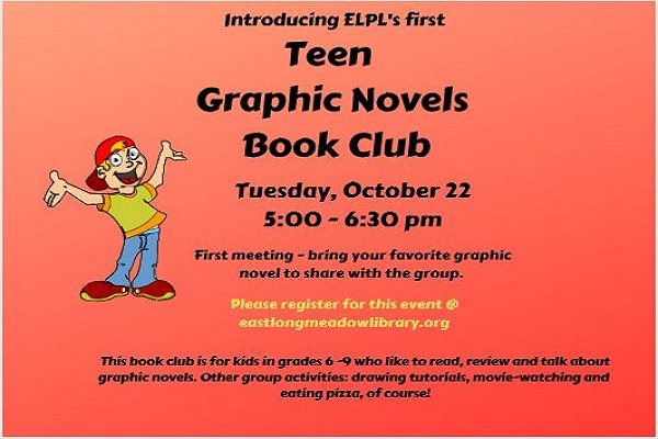 Poster for Graphic Novels Book Club